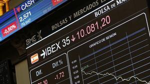 El Ibex 35 registra caídas.