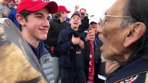 Nicholas Sandmann, el joven seguidor de Trump que se hizo viral.