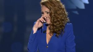 Rocío Carrasco, durante su última intervención en televisión.