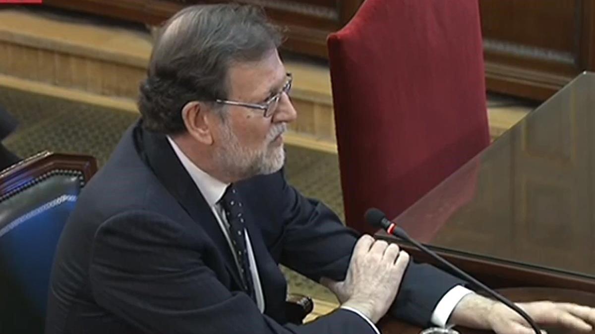 Mariano Rajoy, expesidente del Gobierno, testificando ante el Tribunal Supremo.