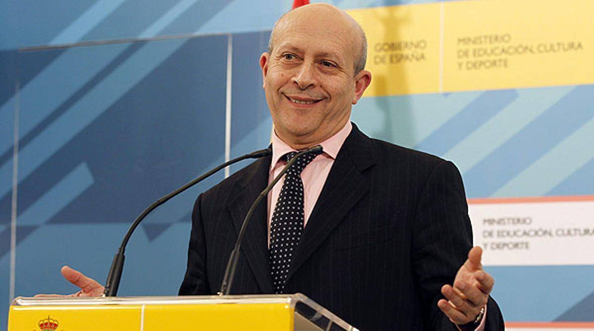 José Ignacio Wert niega que la reforma educativa ataque el catalán