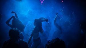 Interior de una discoteca de Barcelona, la noche del jueves