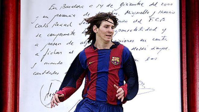 Se cumplen 20 años de la firma en la servilleta. Así llegó Messi al Barça