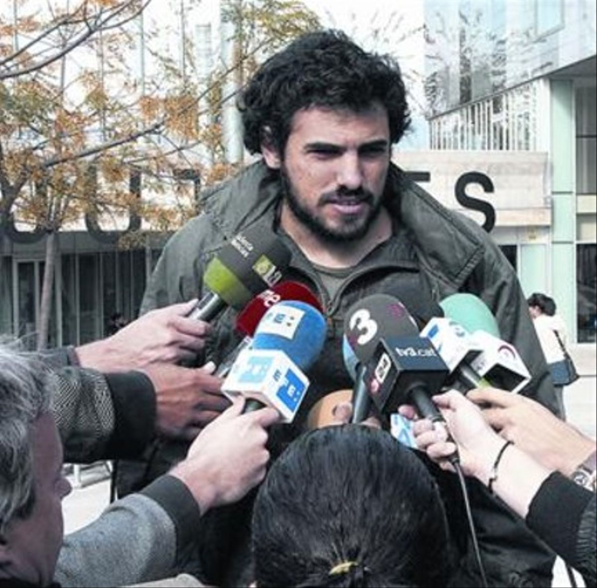 Enric Duran, tras el juicio civil que se celebró la semana pasada.