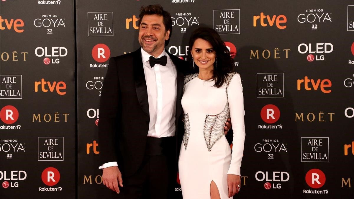 Premios Goya 2018. Javier Bardem y Penélope Cruz.