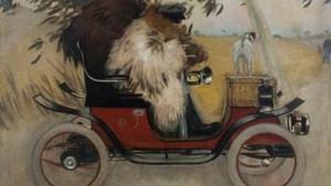 'Ramon Casas y Pere Romeu en un automóvil' (Óleo sobre tela, 208 x 291 cm).