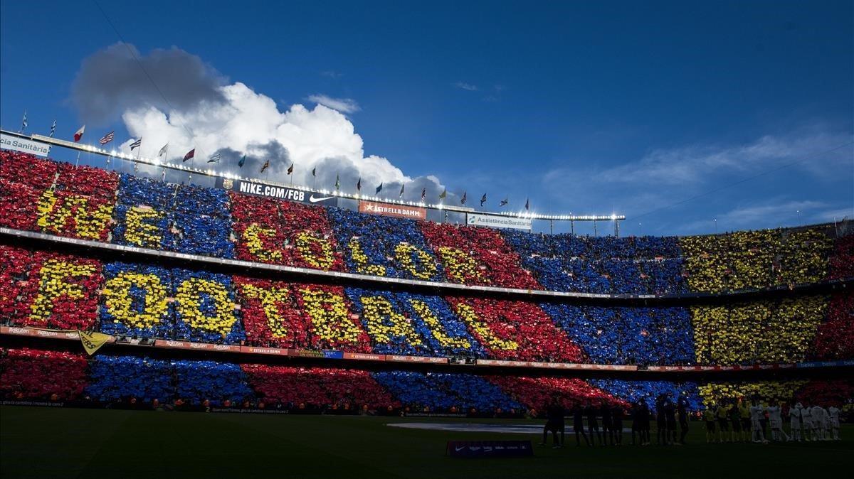 Mosaico en la grada del Camp Nou.