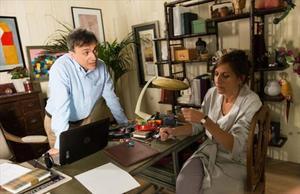 José Mota y Malena Alterio, en una escena de 'El hombre de tu vida', la serie que rueda estos días TVE.