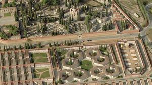 Vista aérea del cementerio municipal de Sabadell