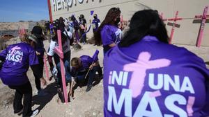 Movilización en Ciudad Juárez (México) contra la violencia de género.