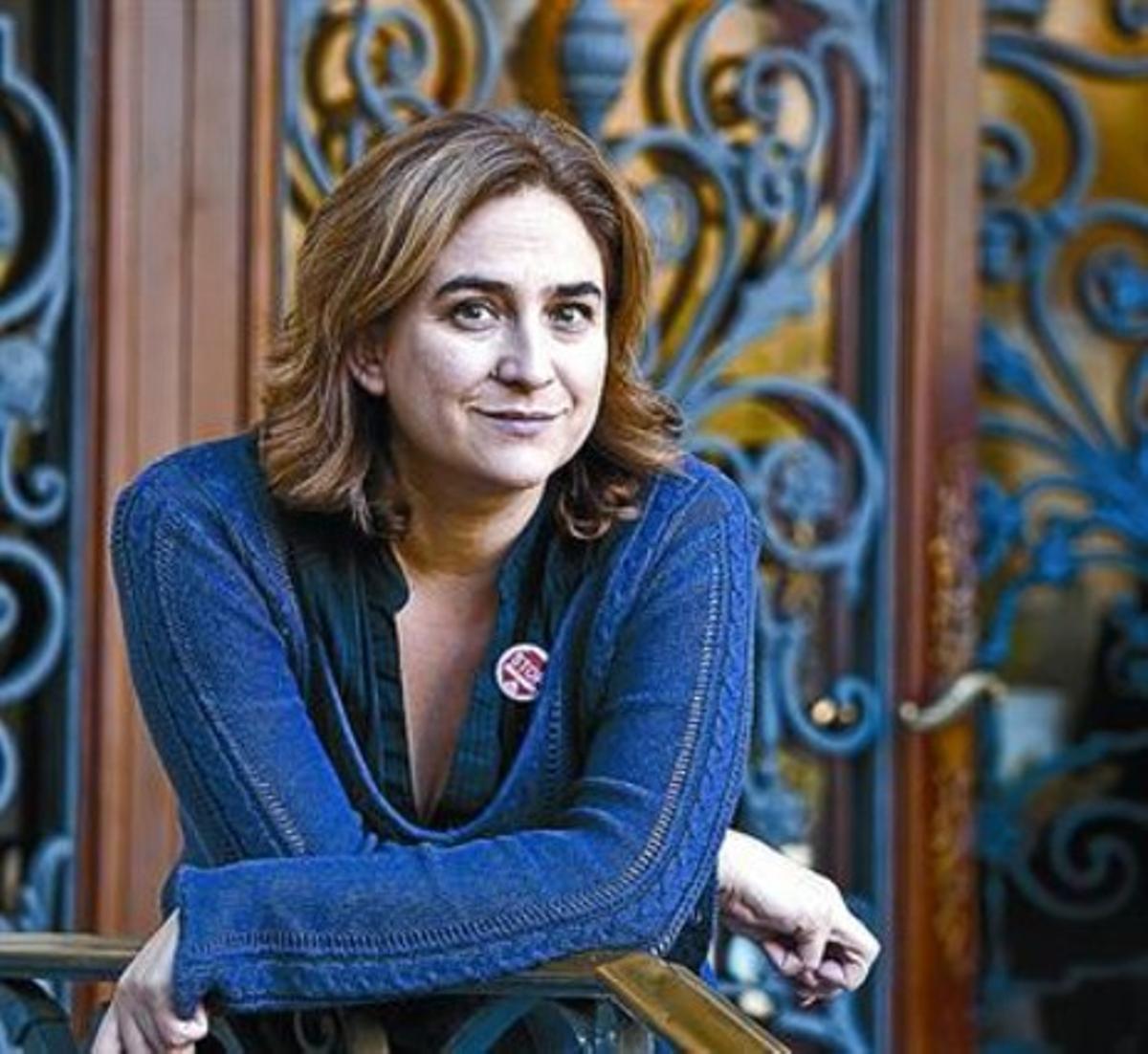 Ada Colau, ayer, ante el Col·legi d'Advocats de Barcelona.