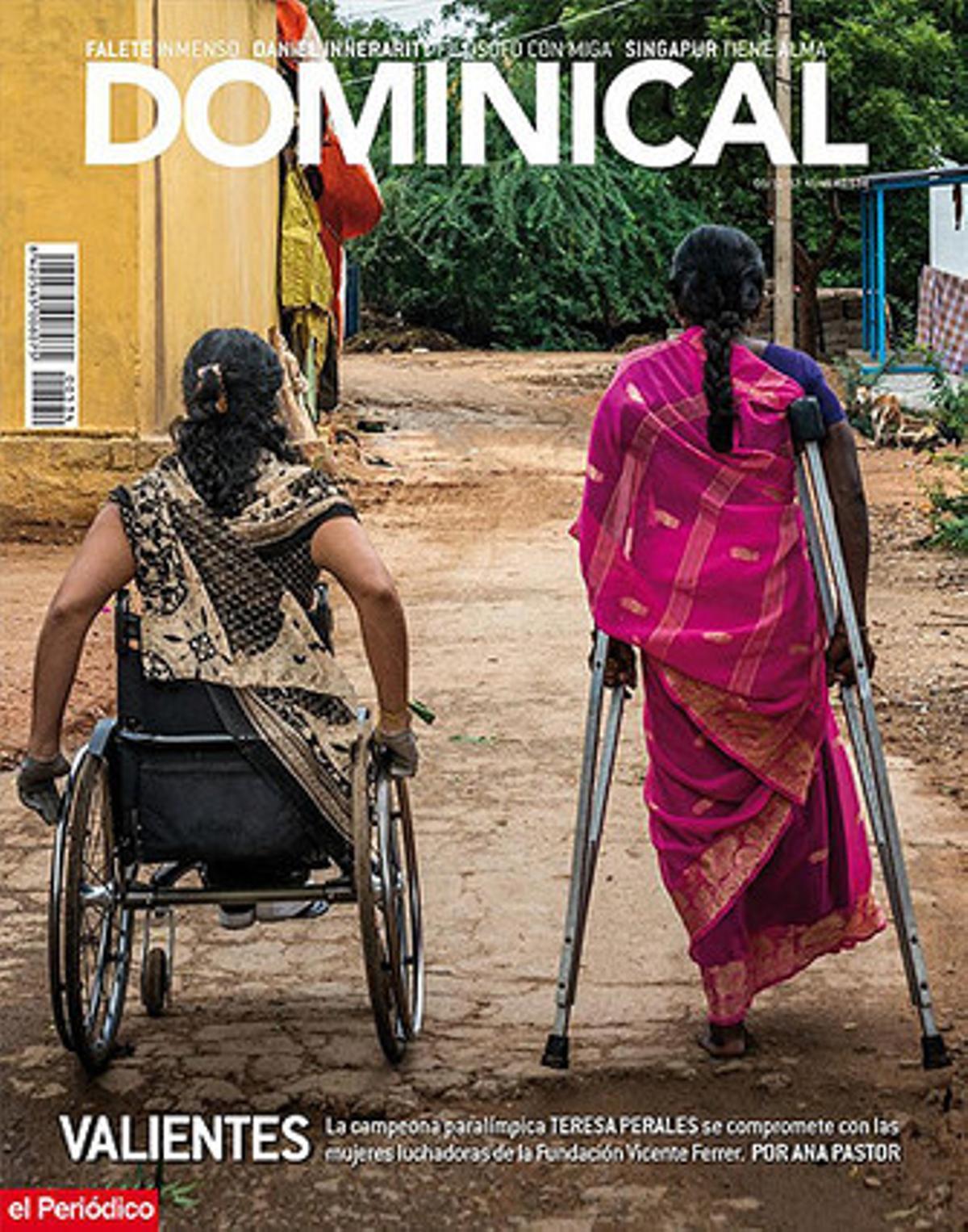 La campeona Teresa Perales, en la portada de 'Dominical'.