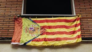 'Esteladus hispanicus' avistado en Gràcia, síntoma tal vez de ese empacho de simbologías que sufre la ciudadanía.