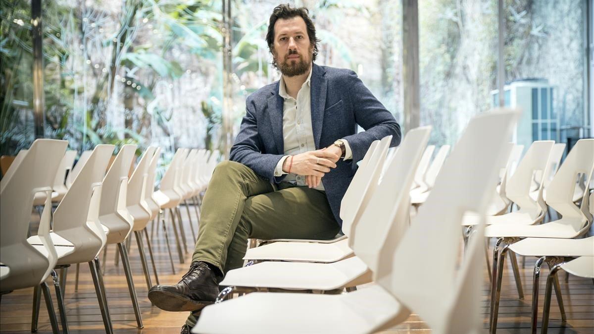 El escritor italiano Marco Missiroli, en su última visita en Barcelona.