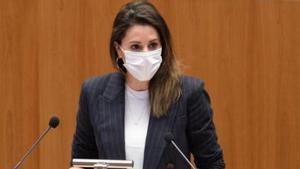María Montero en la Junta de Castilla y León.