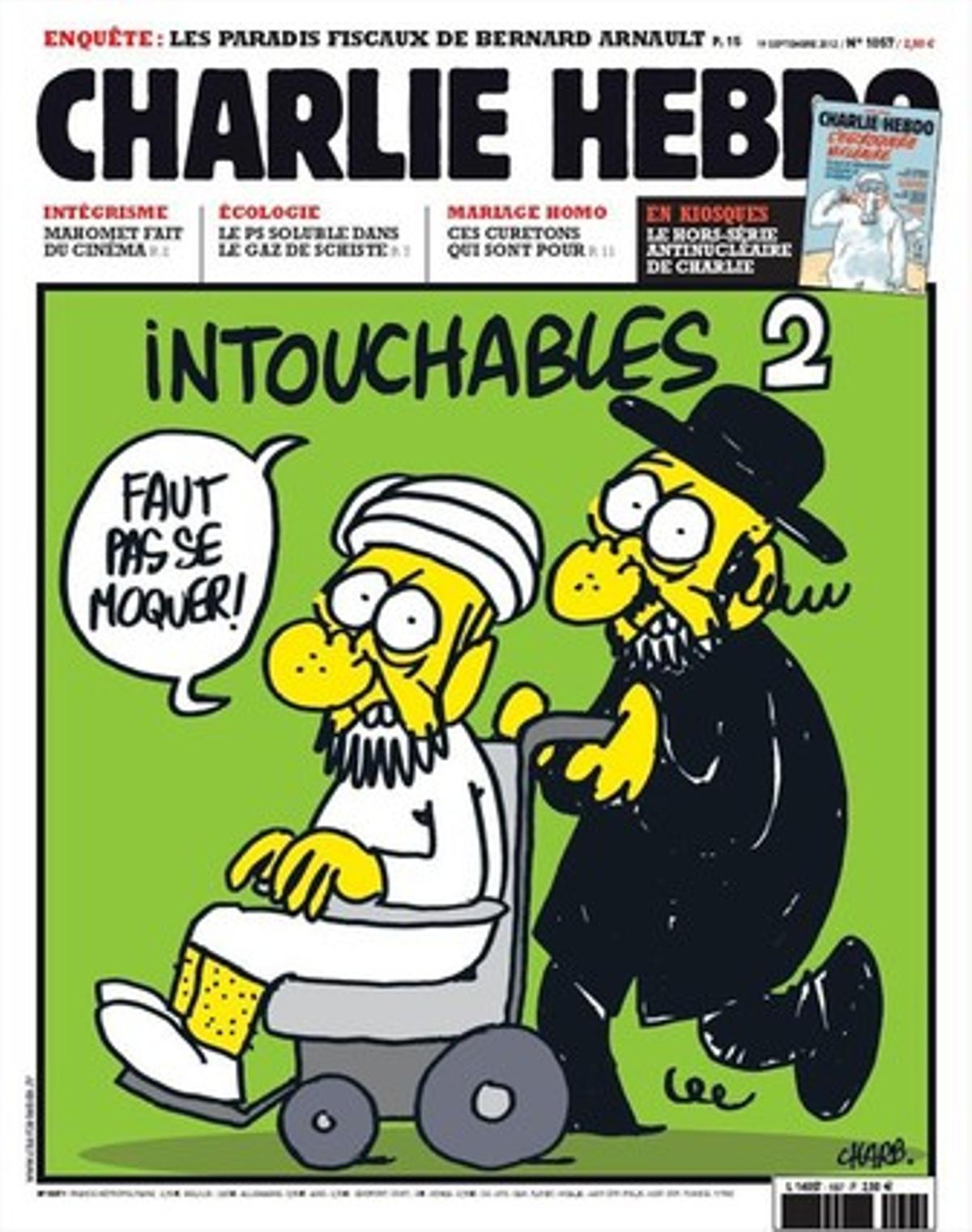 Portada del semanario francés 'Charlie Hebdo'.
