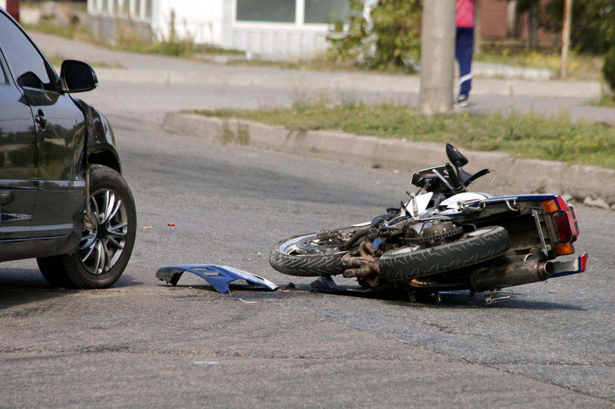 Imagen de un accidente de moto.