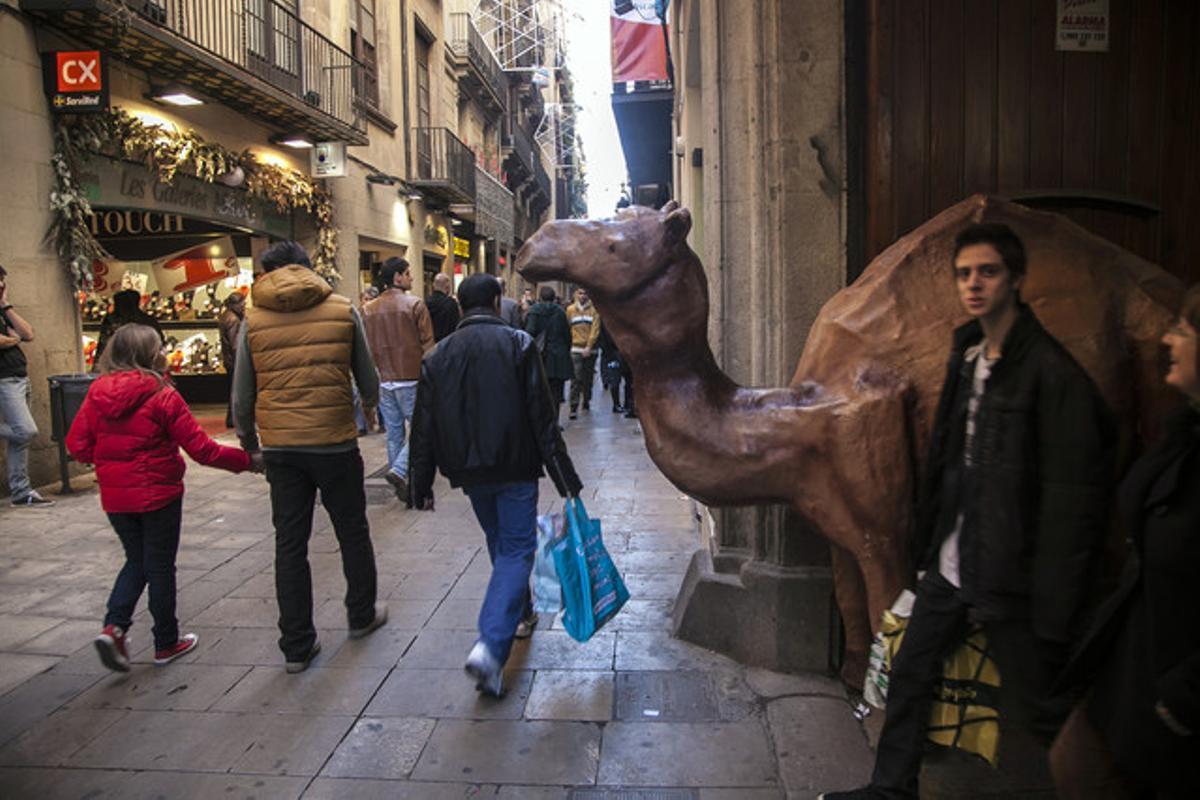 El camello situado en Portaferrissa