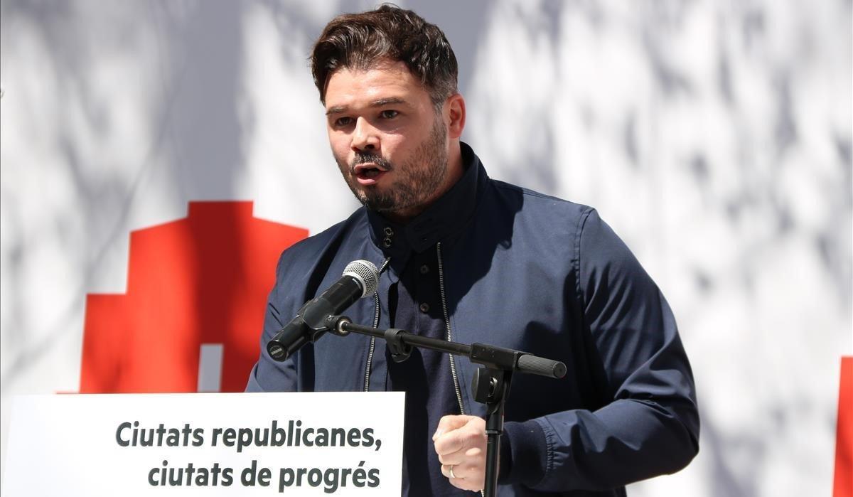 Gabriel Rufián, en una imagen de archivo.
