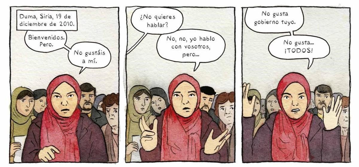 Viñetas del cómic de Sarah Glidden 'Oscuridades programadas'.