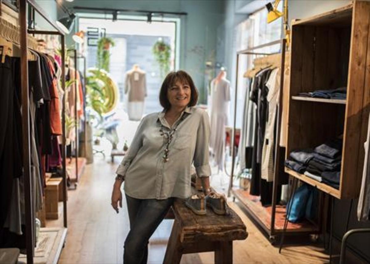 Sylvia Calvo, en la tienda Green Life Style, sede de la asociación.