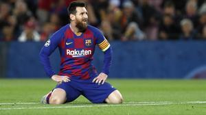 Leo Messi, la noche de la goleada del Bayern.
