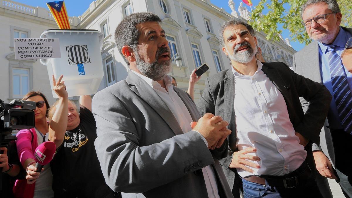 Jordi Sànchez y Jordi Cuixart, en octubre del 2017