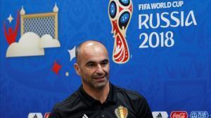 Robert Martínez, en la conferencia de prensa que dio en Sochi antes del Bélgica-Panamá.