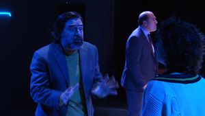 Alberto Lozano (izquierda) y Ramon Godino en un ensayo de 'Angle mort'.