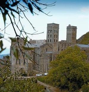 Un aspecto del monasterio benedictino de Sant Pere de Rodes.