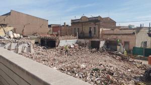 Enderrocats els edificis afectats per les obres de millora de la C-245