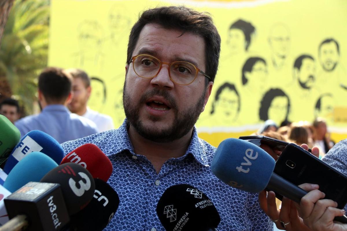 El vicepresidente del Govern y coordinador general de ERC, Pere Aragonès.