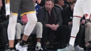 James Dolan, durante un partido de los Knicks.