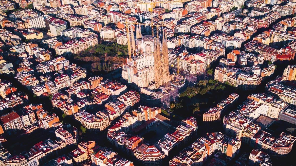 El Eixample de la Sagrada Família.
