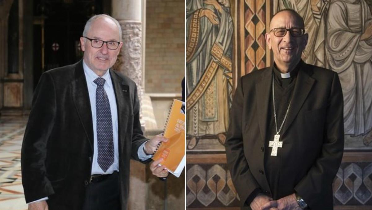El Síndic de Greuges, Rafael Ribó, y el cardenal arzobispo de Barcelona, Juan José Omella.