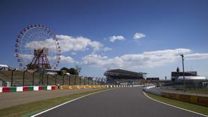 Los pilotos disfrutan de estas magníficas vistas en la parrilla de Suzuka.
