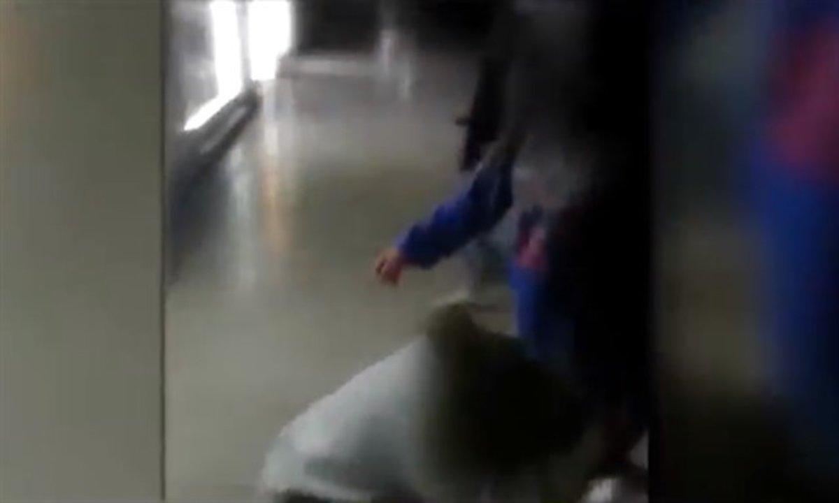Una de las peleas entre menores ocurridas en Torrejón de Ardoz.