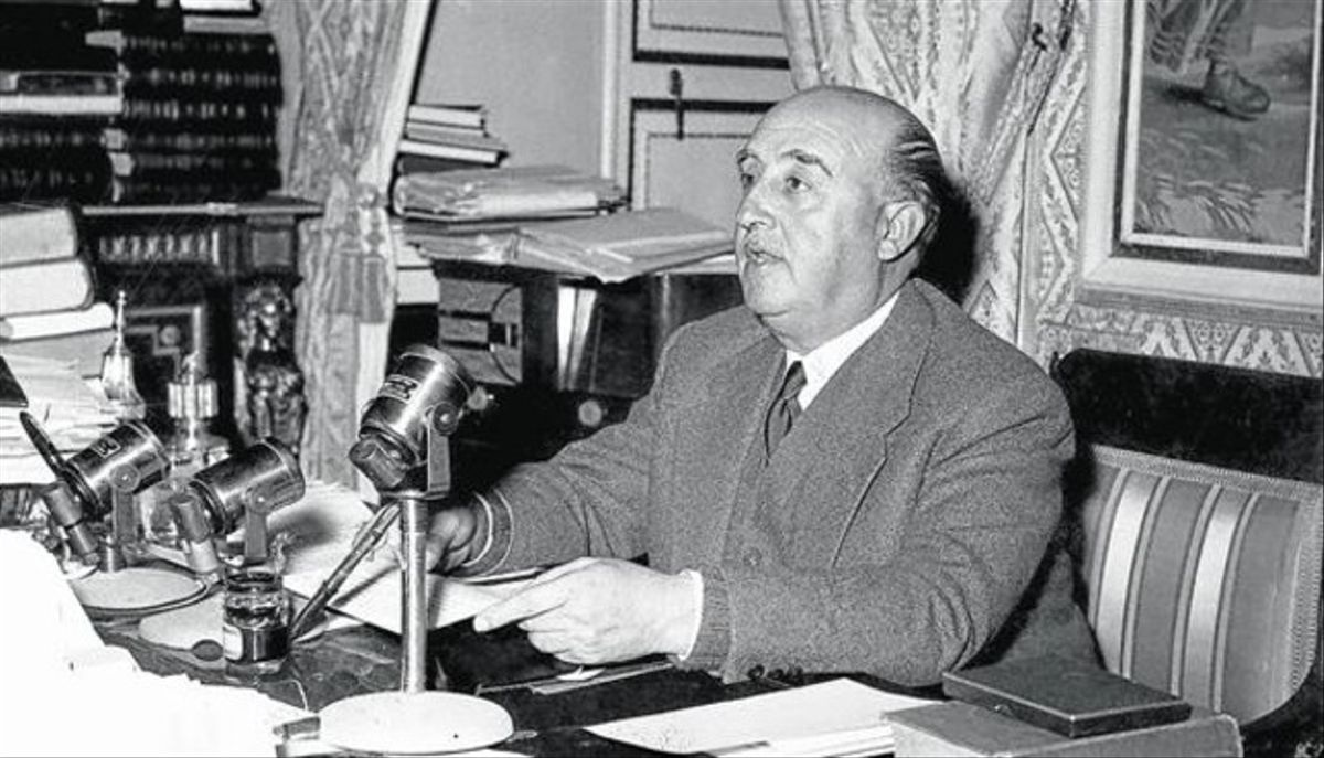 Francisco Franco,en El Pardo.