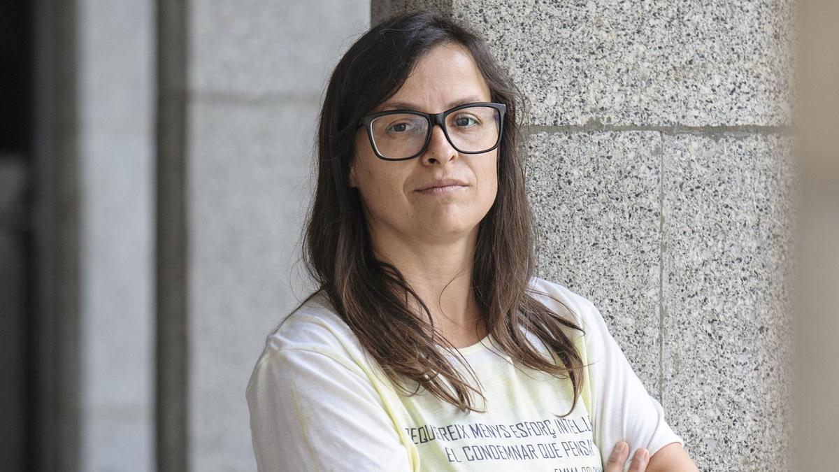 Vanessa M. Cortés, presidenta de Stop Violències, el 24 de septiembre en Andorra la Vella