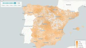 Un mapa prediu el risc de coronavirus a Espanya d'avui a quatre dies