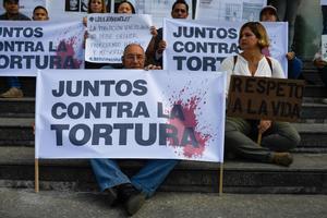 Protestas en contra de la tortura de los presos políticos en Venezuela.