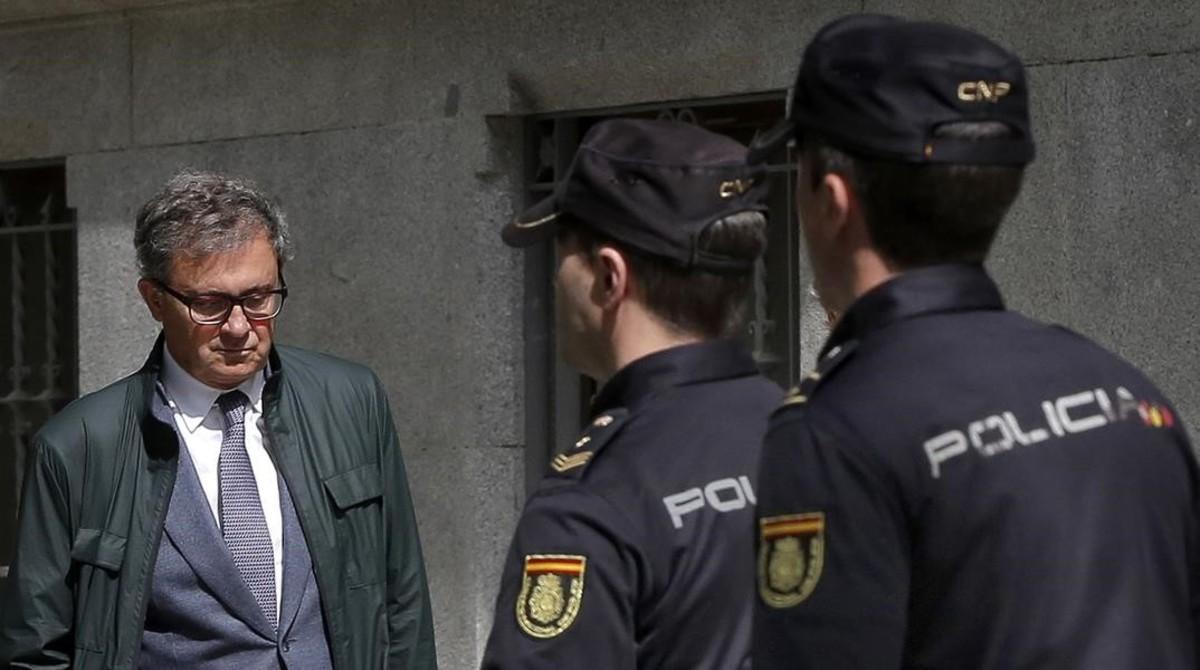 Jordi Pujol Ferrusola entra en la Audiencia Nacional en abril del 2017.
