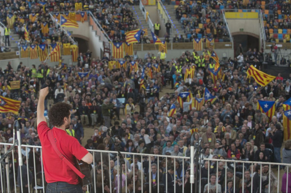 El encuentro de la Assamblea Nacional Catalana (ANC) de este sábado.