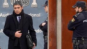 Josep Lluís Trapero, en la Audiencia Nacional.
