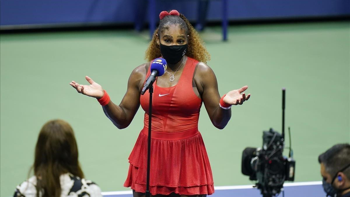 Serena Williams lluita contra el temps