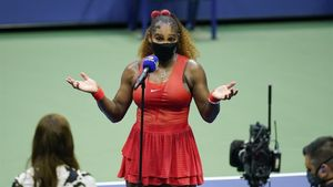 Serena Williams, tras su triunfo en primera ronda del US Open.