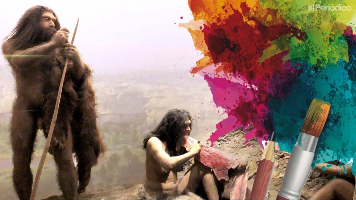 Los neandertales también pintaban en cuevas