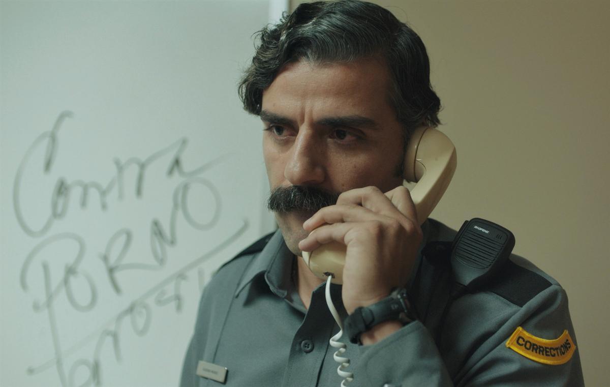 El actor Oscar Isaac al cortometraje 'The letter room'.