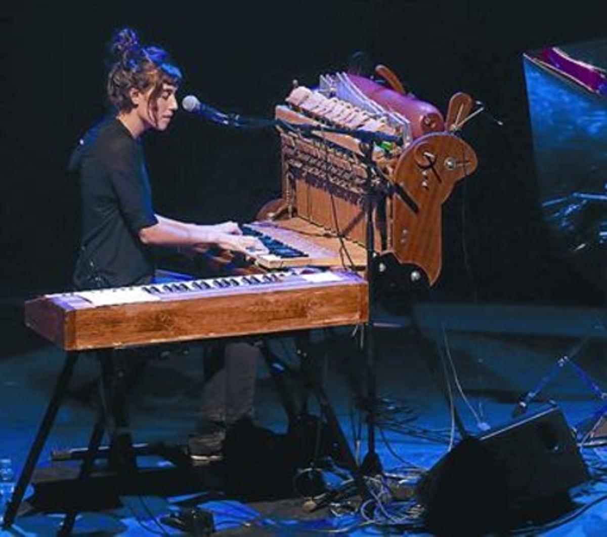 Maria Coma, en el concierto del viernes por la noche en L'Atlàntida.