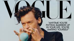 Harry Styles, primer hombre en copar en solitario la portada de 'Vogue'.